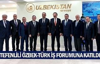 Tefenlili Özbek-Türk İş Forumuna katıldı
