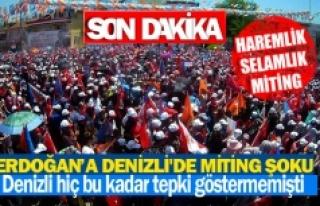 Cumhurbaşkanı Erdoğan'a Denizli'de miting...