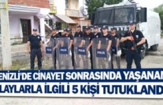 Denizli'de cinayet sonrasında yaşanan olaylarla...