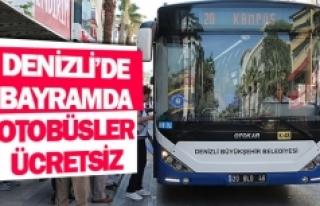 Denizli'de bayramda otobüsler ücretsiz
