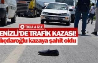 Kılıçdaroğlu kazaya şahit oldu