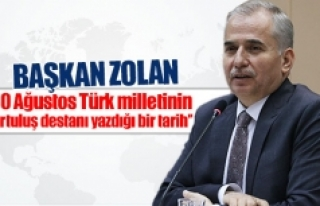 Başkan Zolan: ''30 Ağustos Türk milletinin...