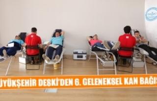 Büyükşehir DESKİ'den 6. geleneksel kan bağışı