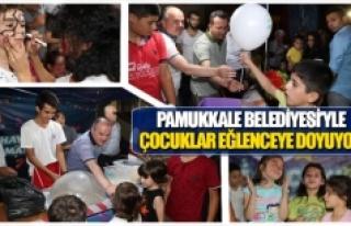 Pamukkale Belediyesi'yle çocuklar eğlenceye doyuyor