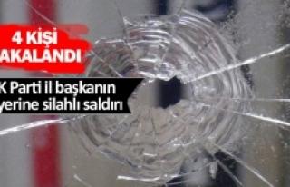 AK Parti il başkanın işyerine silahlı saldırı