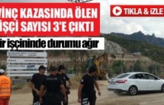 Denizli'de vinç kazasında ölen işçi sayısı...