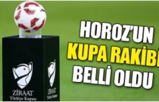 Horoz'un kupa rakibi belli oldu
