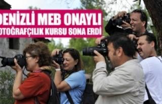 Denizli MEB onaylı fotoğrafçılık kursu sona erdi