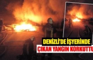 Denizli'de işyerinde çıkan yangın korkuttu!