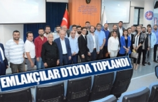 Emlakçılar DTO'da toplandı