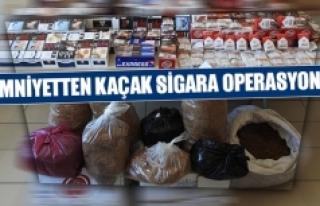 Emniyetten kaçak sigara operasyonu