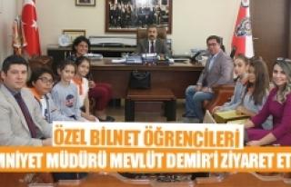 Özel Bilnet öğrencileri Emniyet Müdürü Mevlüt...