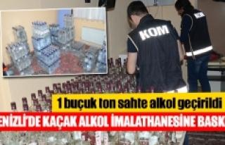 Denizli'de kaçak alkol imalathanesine baskın