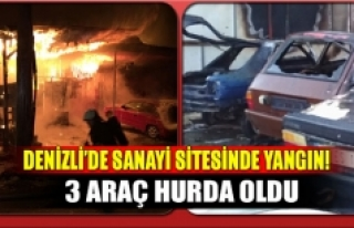 Denizli'de sanayi sitesinde yangın!