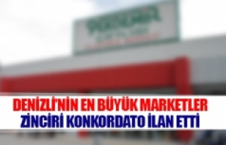 Denizli'nin en büyükmarketler zinciri konkordato...