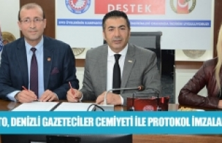 DTO, Denizli Gazeteciler Cemiyeti ile protokol imzaladı