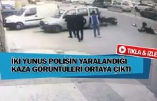 İki yunus polisin yaralandığı kaza görüntüleri...