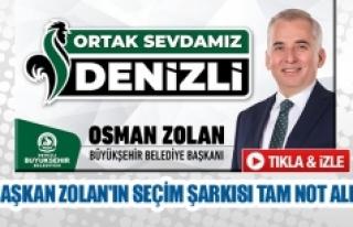 Başkan Zolan'ın seçim şarkısı tam not aldı