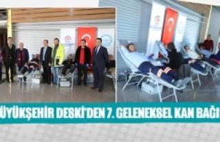 Büyükşehir Deski'den 7. geleneksel kan bağışı