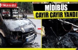 Midibüs cayır cayır yandı!