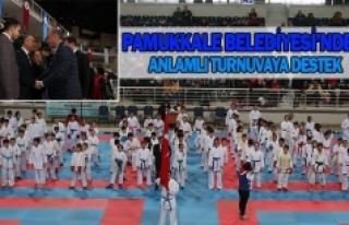 Pamukkale Belediyesi'nden anlamlı turnuvaya destek