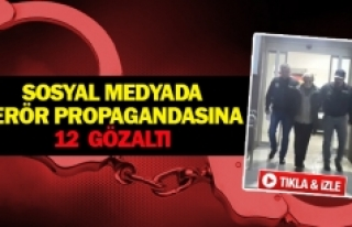 Sosyal medyada terör propagandasına 12 gözaltı