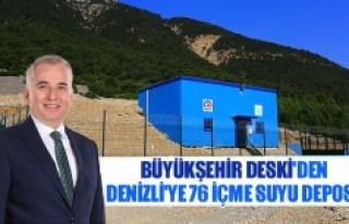 Büyükşehir DESKİ'den Denizli'ye 76 içme...