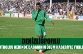 Denizlisporlu futbolcu kehinde babasının ölüm...