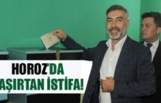 Horoz'da şaşırtan istifa!