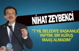 """Nihat Zeybekçi""""7 yıl belediye başkanlığı..."""