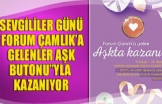 Sevgililer günü Forum Çamlık'a gelenler aşk...