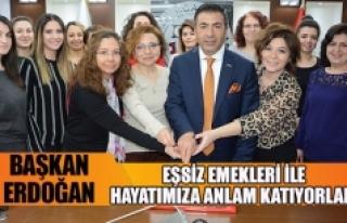 """Başkan Erdoğan;""""eşsiz emekleri ile hayatımıza..."""