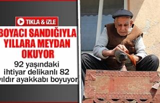 92 yaşındaki ihtiyar delikanlı 82 yıldır ayakkabı...