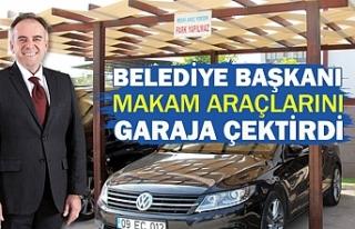 Belediye Başkanı makam araçlarını garaja çektirdi