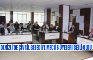 Denizli'de Çivril'in belediye meclis üyeleri...