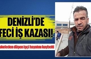 Denizli'de iskeleden düşen işçi hayatını kaybetti
