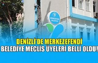 Denizli'de Merkezefendi belediye meclis üyeleri...