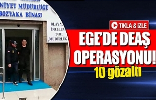 Ege'de DEAŞ operasyonu!