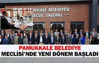 Pamukkale belediye meclisi'nde yeni dönem başladı