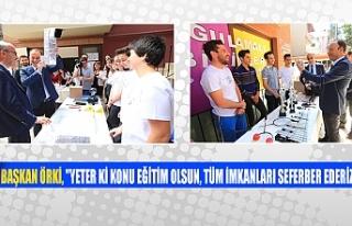 """Başkan Örki, """"Yeter ki konu eğitim olsun,..."""