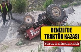 Denizli'de traktör kazası