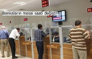 Bankaların mesai saati değişti!