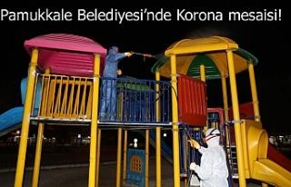 Pamukkale Belediyesi'nde Korona mesaisi!