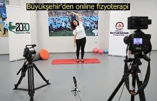 Büyükşehir'den online fizyoterapi