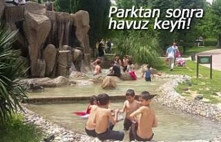 Parktan sonra havuz keyfi!