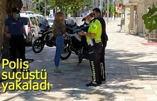 Polis suçüstü yakaladı!