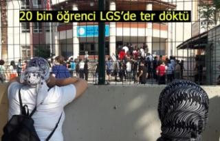 20 bin öğrenci LGS'de ter döktü