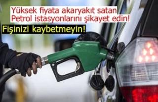 Petrol istasyonlarını şikayet edin!
