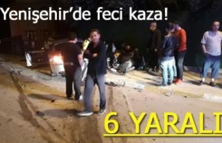 Yenişehir'de feci kaza!