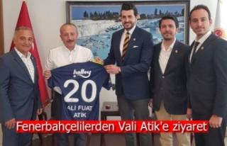 Fenerbahçelilerden Vali Atik'e ziyaret